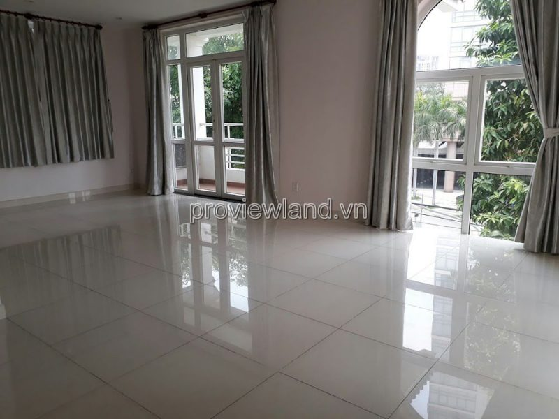 Villa for rent in Thao Dien with 1 ground  2 floors including 5 bedrooms and large garden