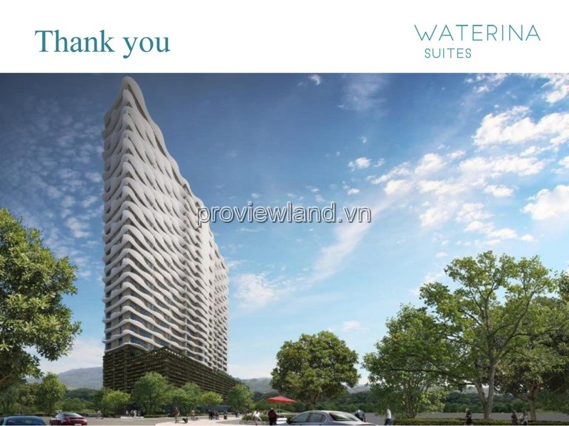 Waterina Suites apartment sells 3 bedrooms in District 2 with river view on the middle floor pay 50% of the house