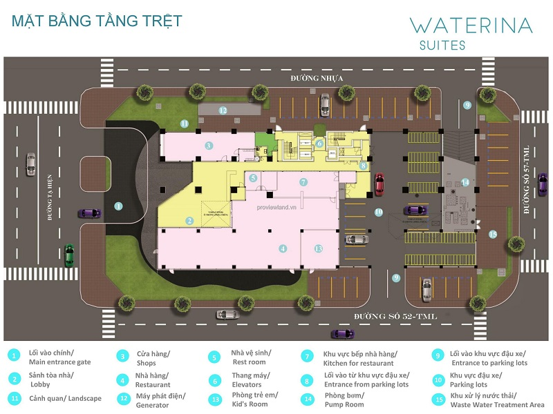 Sale of luxury apartment 3 bedrooms high floor, pay 50% of the house at Waterina Suites, Payment remaining until 03/2022