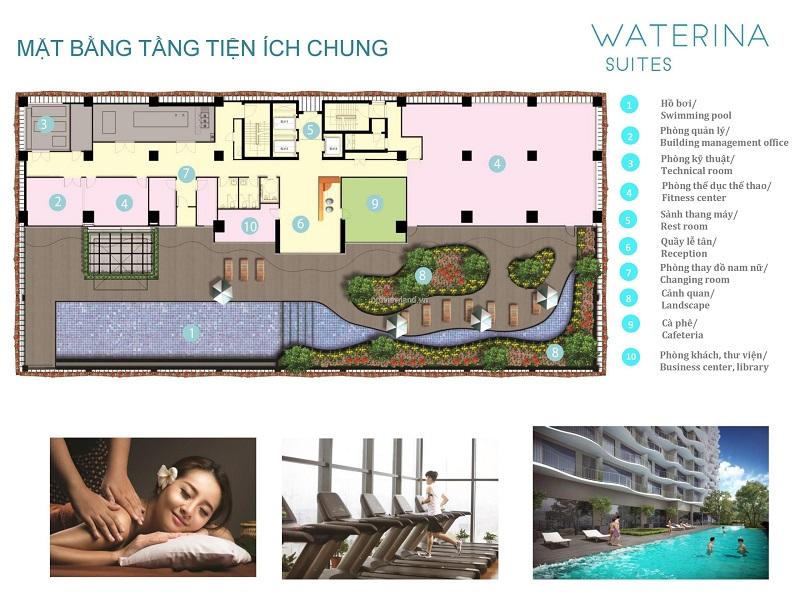 Căn hộ Waterina Suites Thạnh Mỹ Lợi cần bán căn hộ 3 phòng ngủ tầng cao view sông