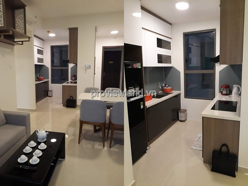 The Sun Avenua apartment for rent in low floor 2 tower 3 bedrooms fully furnished
