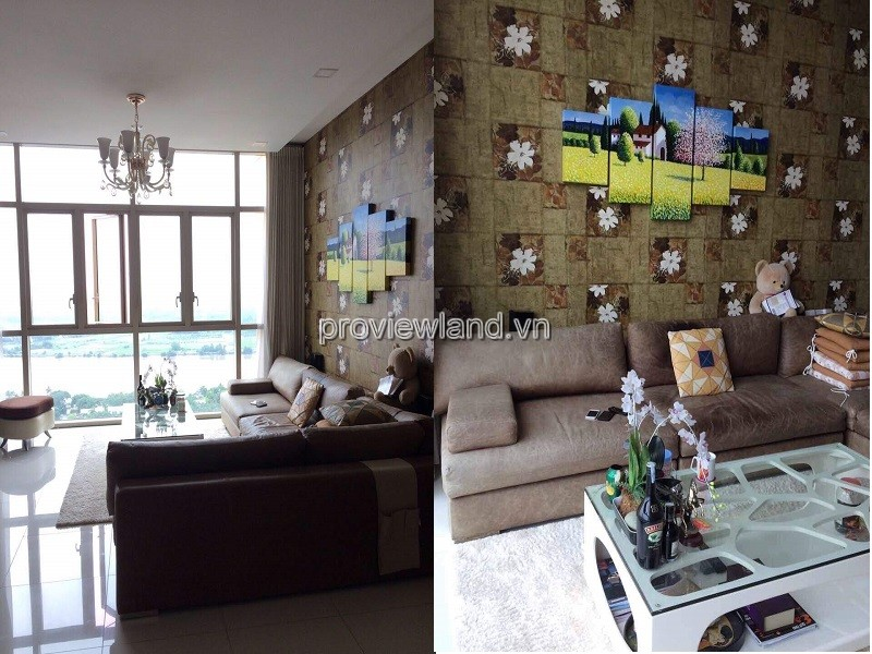 For rent apartment T4 tower in The Vista 3 bedrooms high floor nice furniture pool view