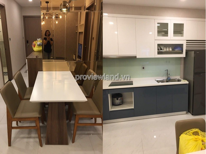 Vinhomes Central Park apartment for rent with 1 bedroom on the middle of Park 1 tower