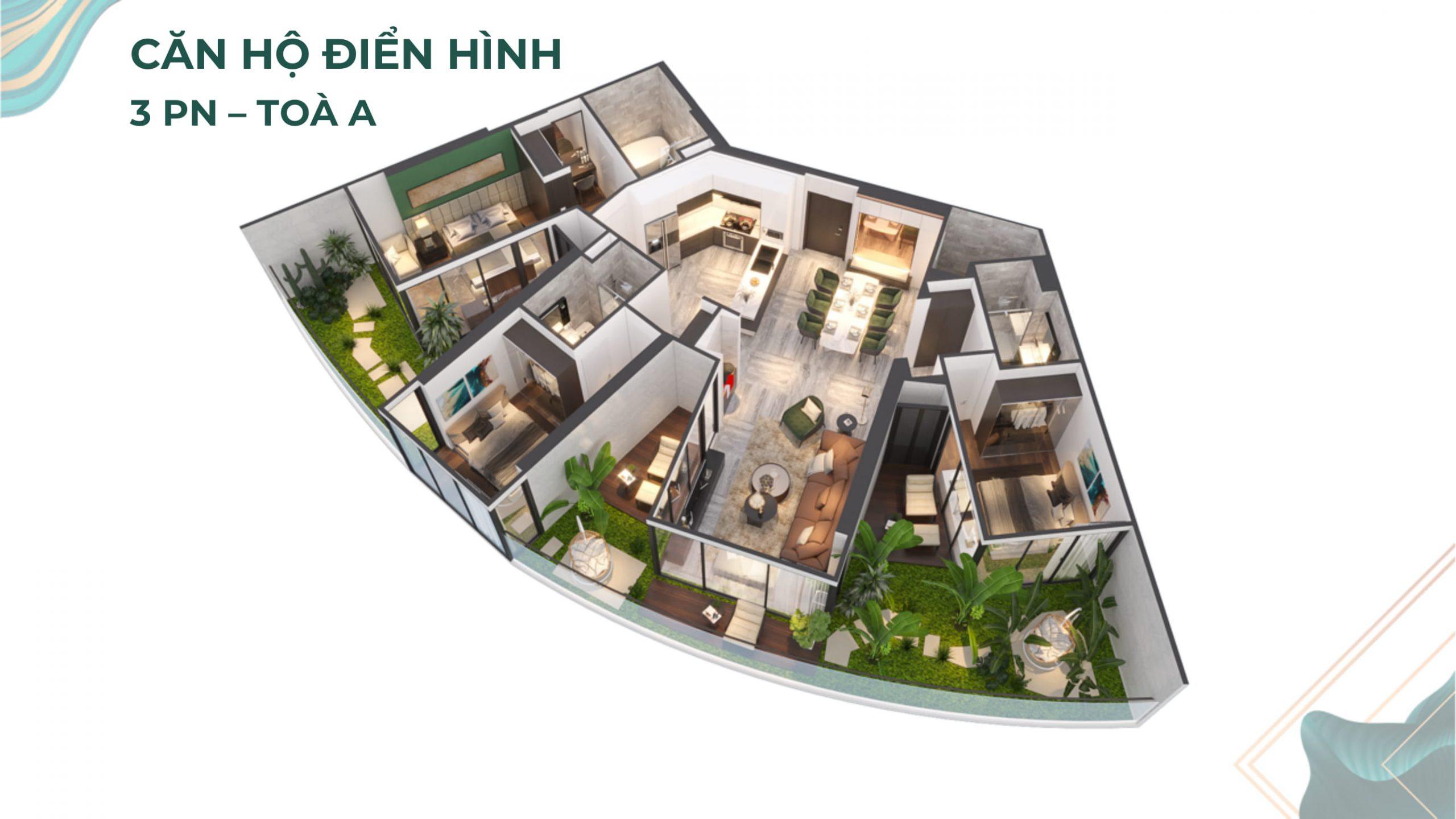 Bán căn hộ 4.0 Sunshine Venicia 3pn 85m2 TT 25% ngân hàng hỗ trợ 70%