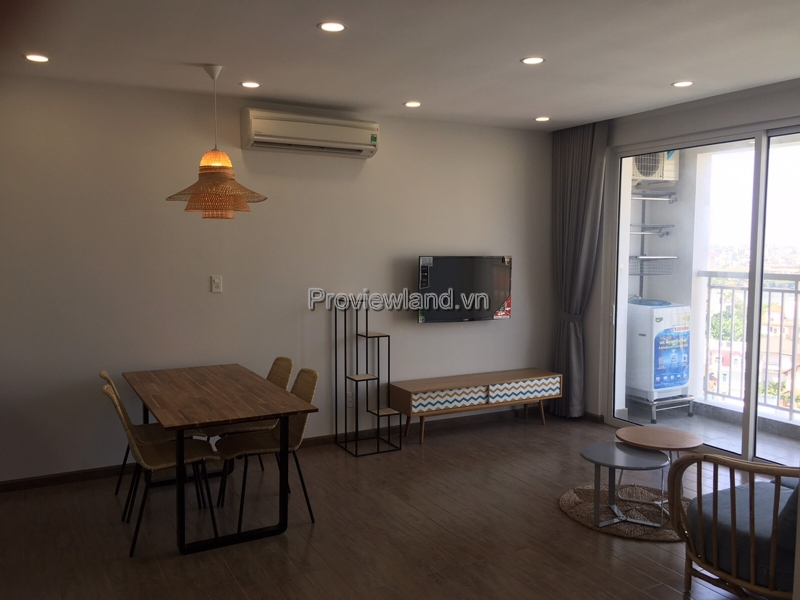 Apartment for rent in District 2 in Troipc Garden A1 tower low floor 2 bedrooms with full furniture