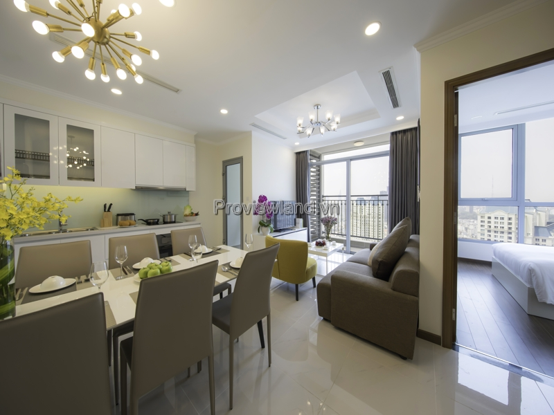 Vinhomes Central Park apartment  for sells 2 bedrooms with view Landmark 81  fully furnished in L4 tower