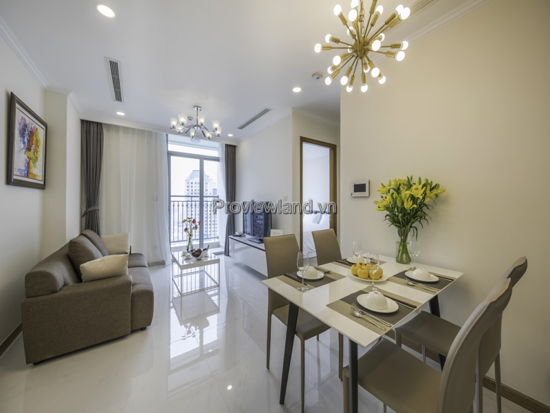 Vinhomes Central Park apartment for rent with 1 bedroom fully furnished in low floor L4 tower