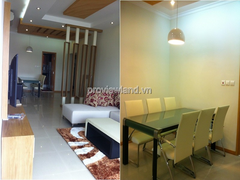 Saigon Pearl apartment for rent 3 bedrooms basic furniture high floor