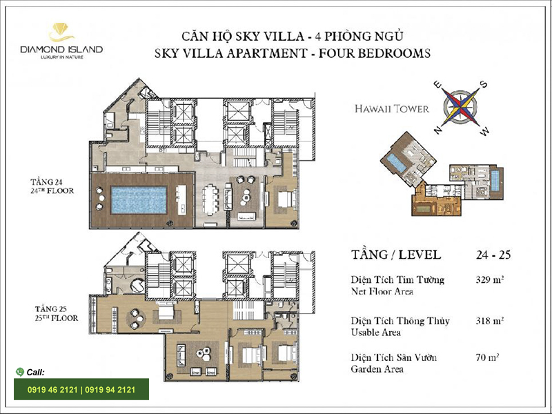 Diamond-Island-DKC-Hawaii-layout-Sky-Villa-329m2