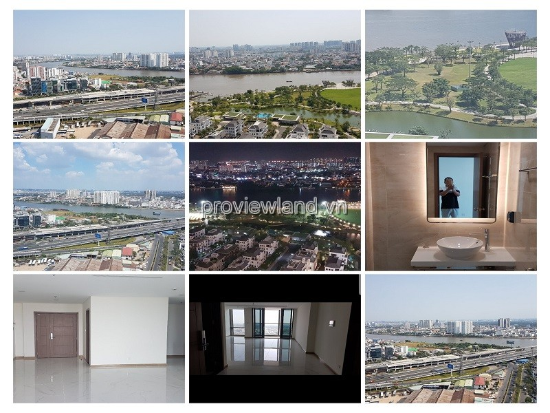 Vinhomes Central Park apartment for rent with 3 bedrooms no furniture internal view