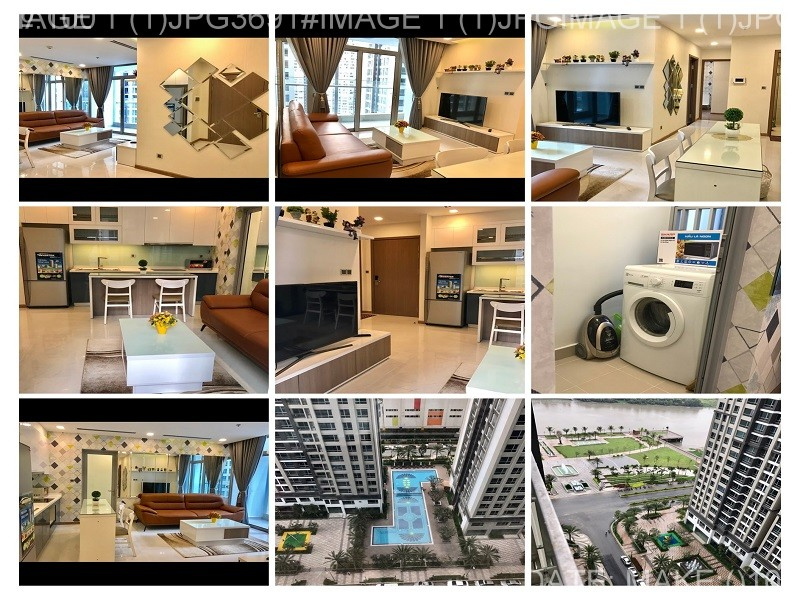 Vinhomes Central Park apartment for rent with 2 bedrooms luxury furniture river view