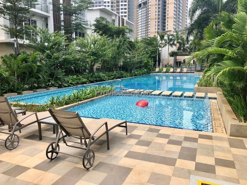 Villa Palm Residence in District 2 for rent is fully furnished
