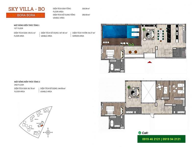 Diamond-Island-DKC-Bora-Bora-layout-Sky-Villa-383m2