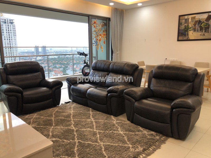Gateway Thao Dien apartment fully furnished with 4 bedrooms for rent