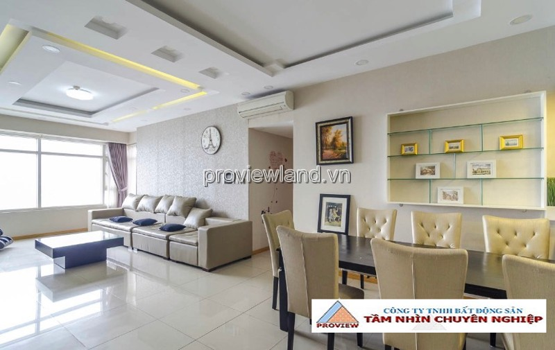 SaiGon Pearl apartment for rent 3 bedrooms high-class furniture
