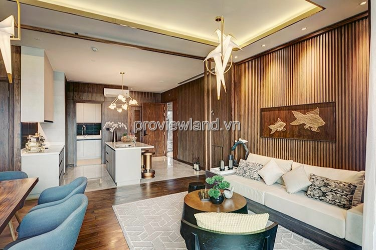 Phòng bếp khu căn hộ D Edge Thảo Điền