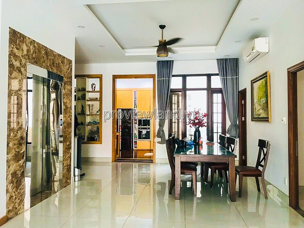 Thao Dien villa for rent, 1 ground + 2 floors with 294m2 land area