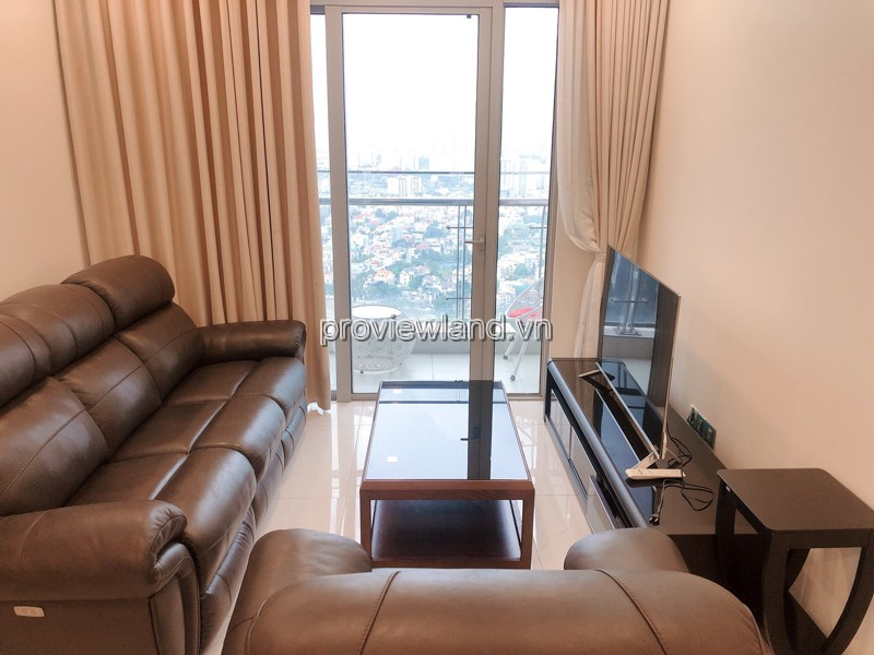 Vinhomes Central Park apartment with high interior has been arranged for rent