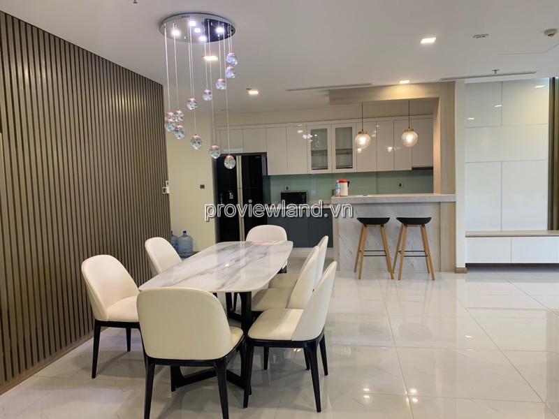 Vinhomes Central Park for rent 4 bedrooms with high quality interior decoration