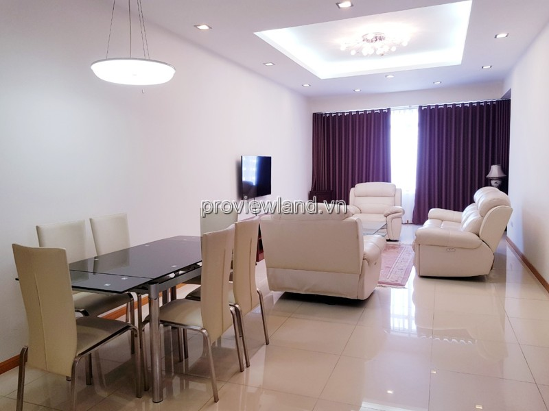 Saigon Pearl Sapphere 1 building middle floor 3 bedrooms with furniture