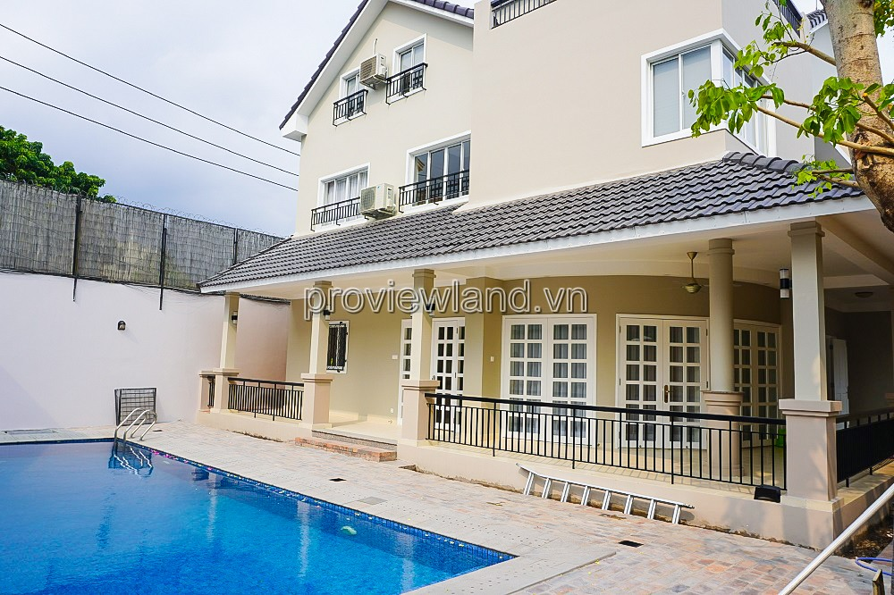 Villa for rent in compound  Tran Nao District 2 1 ground floor 2 floors with swimming pool