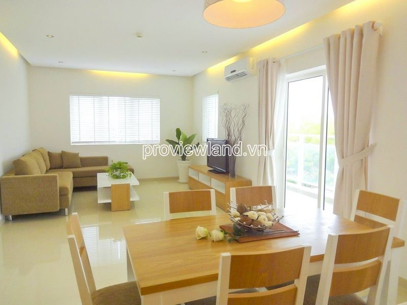 River Garden Thao Dien apartment for rent low floor block B beautiful view
