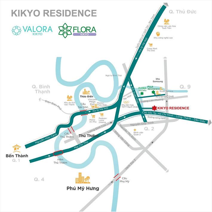 Vị-Trí-Biệt-thự-Valora-Kikyo-Nam-Long-Quận-9