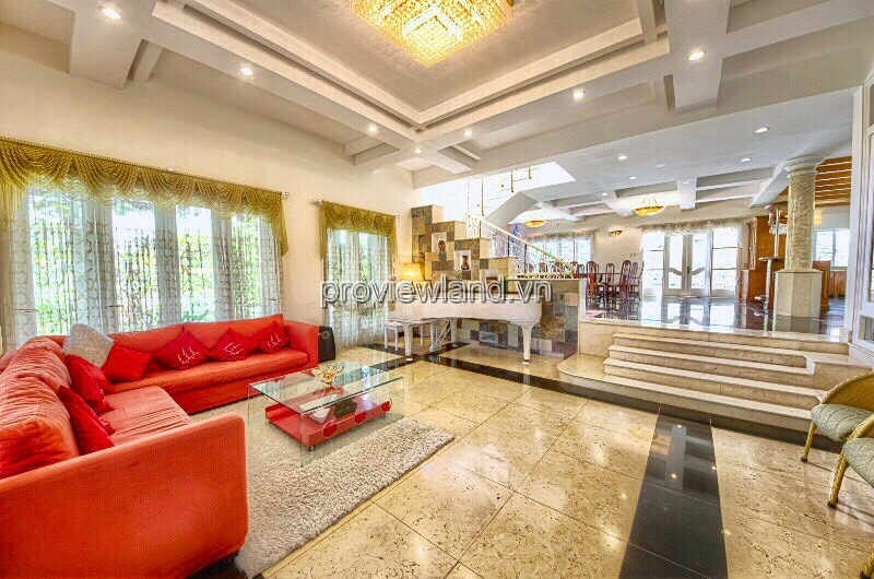 Villa for sale in Compound Thao Dien 1 with area of 697m2 garden and swimming pool